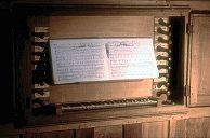 Le clavier de l'orgue d'Orgelet