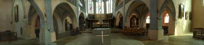 Vue panoramique de l'église d'Orgelet